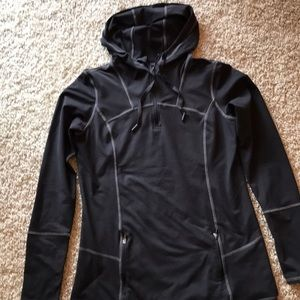 Womens hooded pullover.